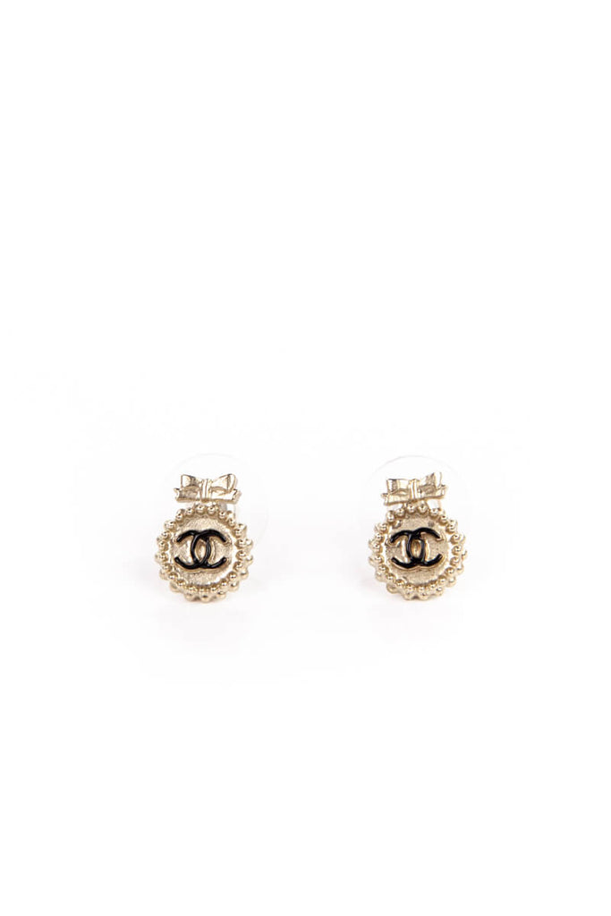 2a6556da0b0795 Chanel CC Gold Tone Round Earring Studs | OWN THE COUTURE | Canada's ...