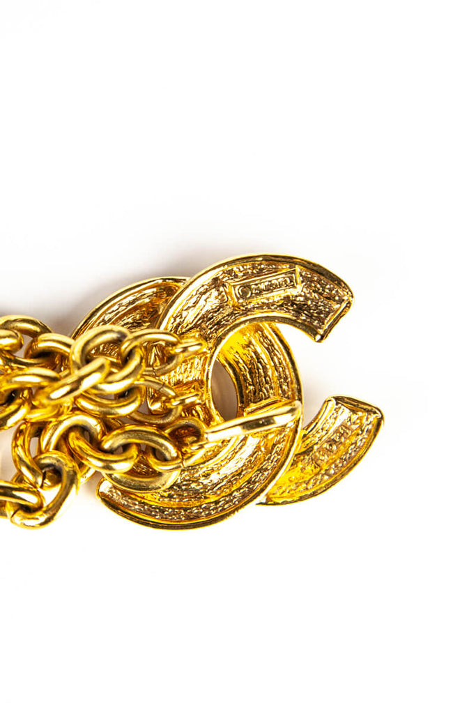 Chanel Gold Chain Link Logo Belt - OWN THE COUTURE