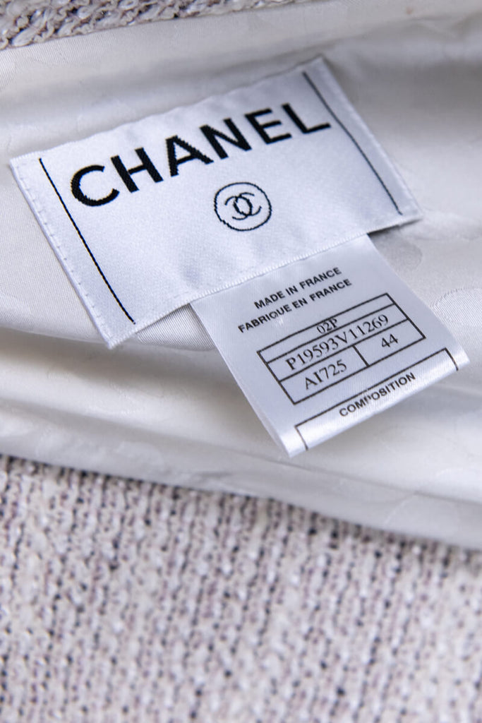 Chanel Ivory Tweed Spring 2002 Jacket Size XL | FR 44 - OWN THE COUTURE