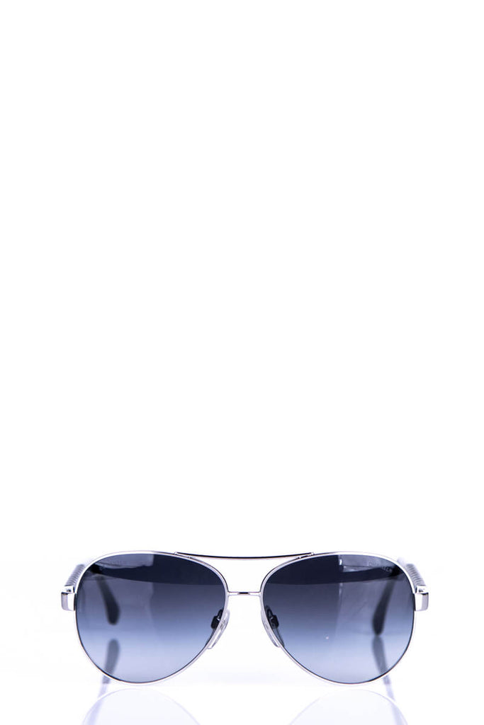 Chanel Silver Quilted Pilot Sunglasses - OWN THE COUTURE