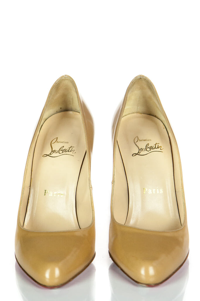 Christian Louboutin Tan Leather Pumps Size 36 - OWN THE COUTURE