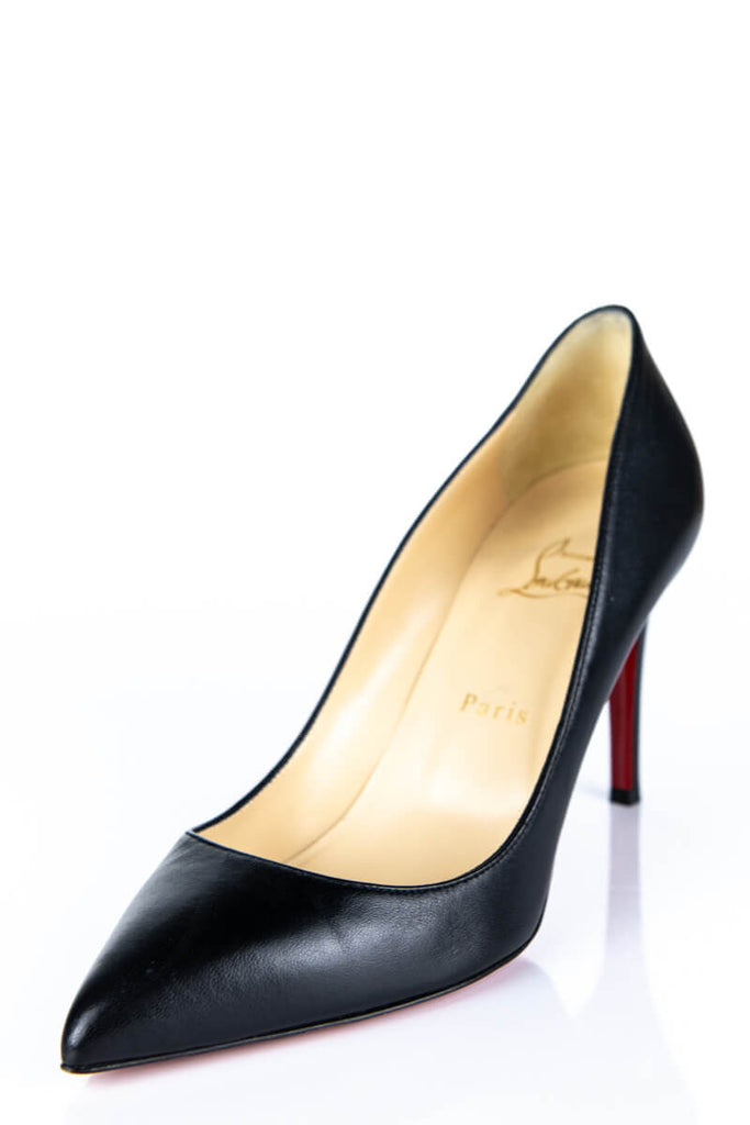 60e05e4d8e524 ... Christian Louboutin Black Leather Pigalle 85 Size 9 | EU 39 - OWN THE  COUTURE ...