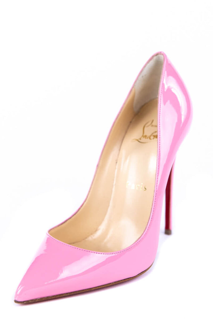 finest selection ed7af e23b4 Christian Louboutin Pink Patent Leather Pigalle Follies 120 Pumps New Size  6 | EU 36