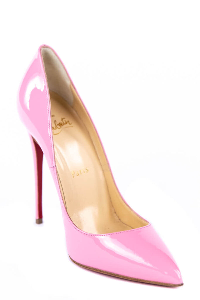 aee6b599f62 Christian Louboutin Pink Patent Leather Pigalle Follies 120 Pumps New Size  6 | EU 36