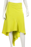 Jason Wu neon ruffled-back silk skirt Size XL | US 12 - OWN THE COUTURE
