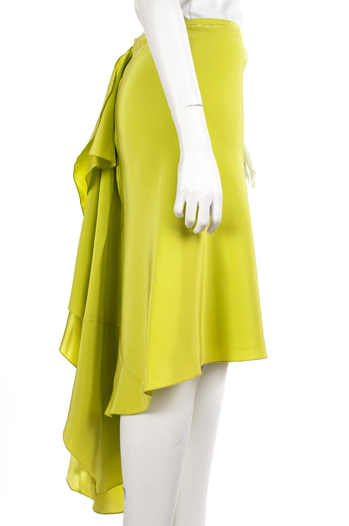 Jason Wu neon ruffled-back silk skirt Size XL | US 12 - OWN THE COUTURE  - 2
