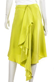 Jason Wu neon ruffled-back silk skirt Size XL | US 12 - OWN THE COUTURE  - 3