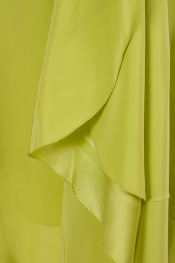 Jason Wu neon ruffled-back silk skirt Size XL | US 12 - OWN THE COUTURE  - 4