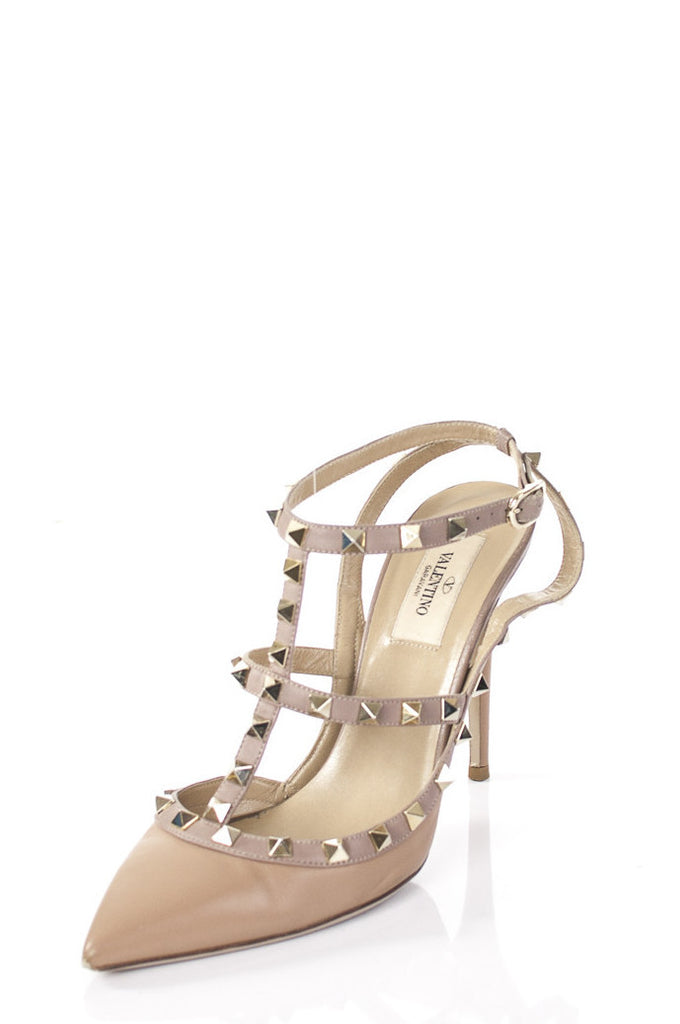 Valentino Rockstud sling back T-bar pumps Size 9  [20% OFF] - OWN THE COUTURE