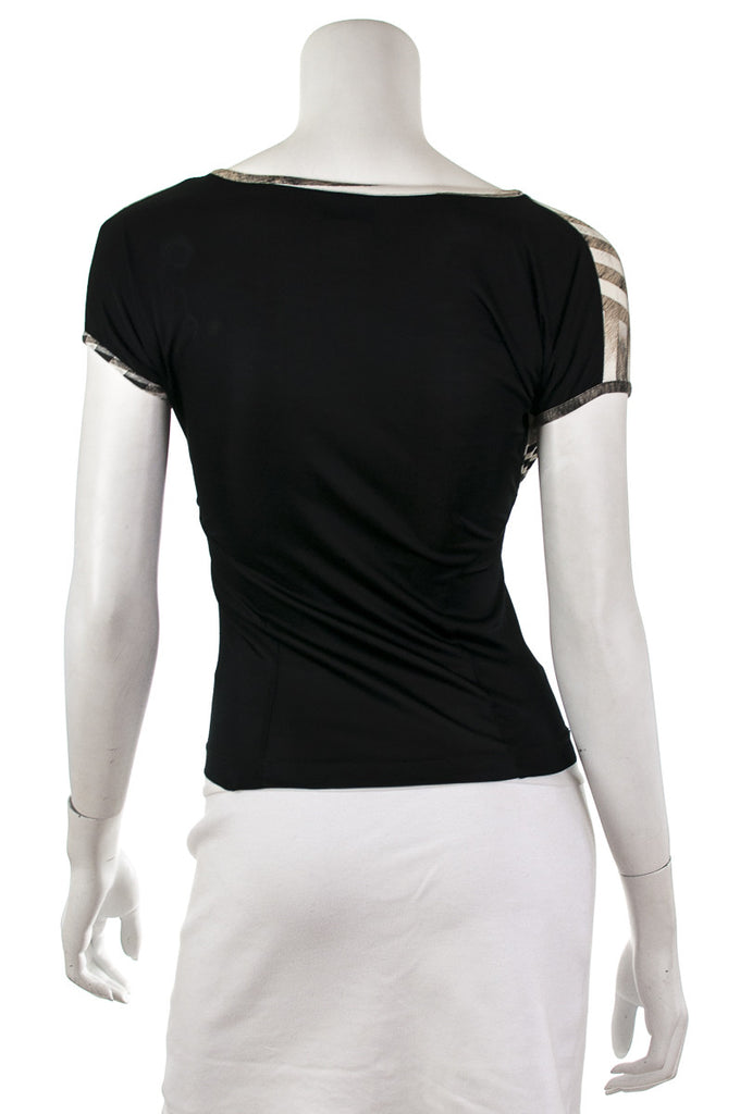 Just Cavalli stretch jersey cap sleeve top Size S | IT 42 - OWN THE COUTURE  - 3