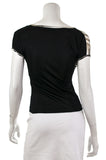 Just Cavalli stretch jersey cap sleeve top Size S | IT 42 - OWN THE COUTURE