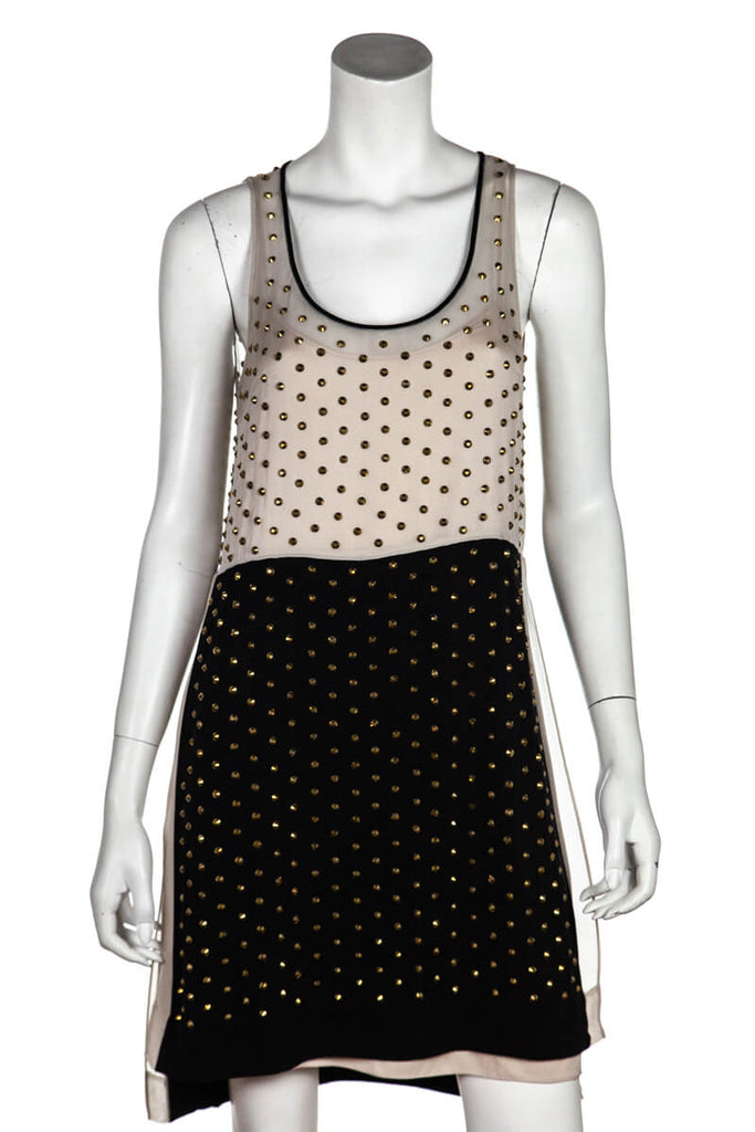 Diane Von Furstenberg Studded Abrielle Crystal Scoop Dress Size XS | US 4 - OWN THE COUTURE