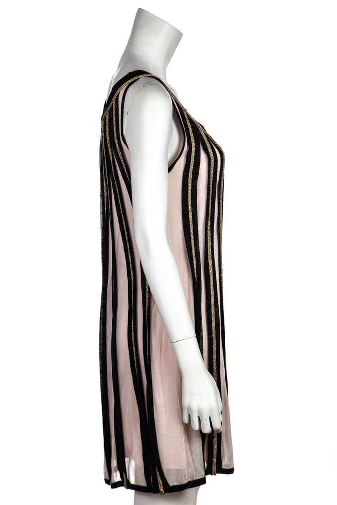 Temperley London Pink and Black Striped Knit Dress New w/ Tags Size M | UK 12 [20% OFF] - OWN THE COUTURE