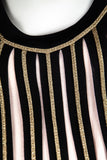 Temperley London Pink and Black Striped Knit Dress New w/ Tags Size M | UK 12 - OWN THE COUTURE