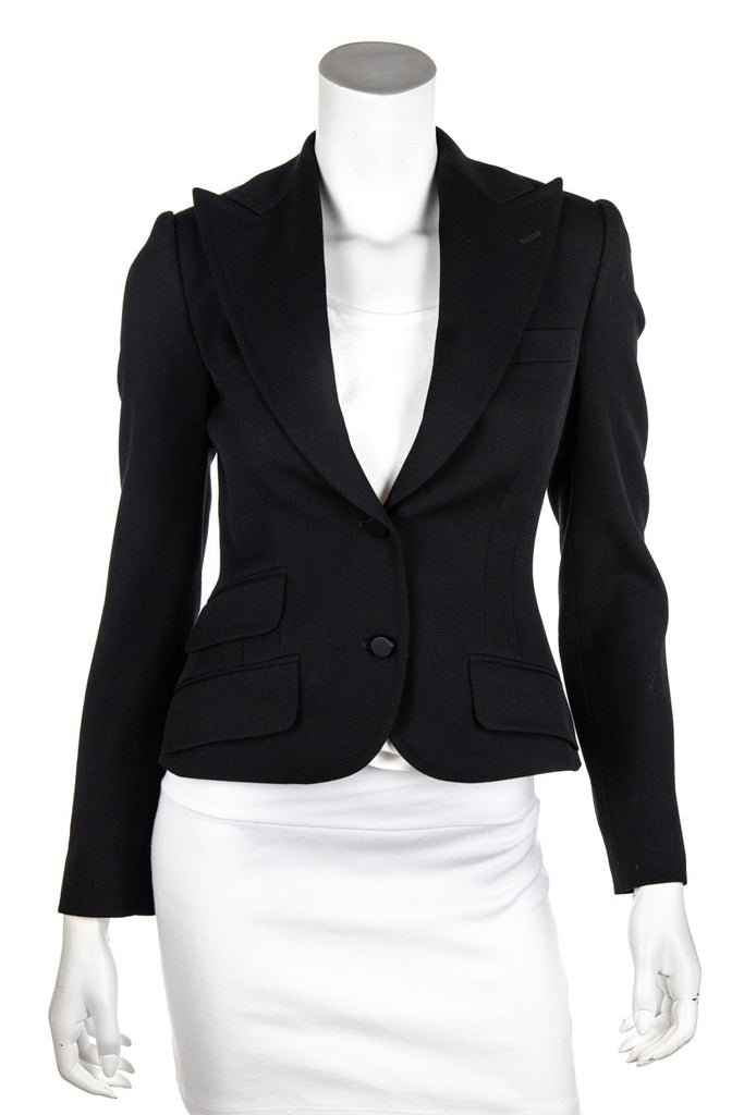 Dolce & Gabbana black velvet backed blazer Size XXS | IT 36 [20% OFF] - OWN THE COUTURE