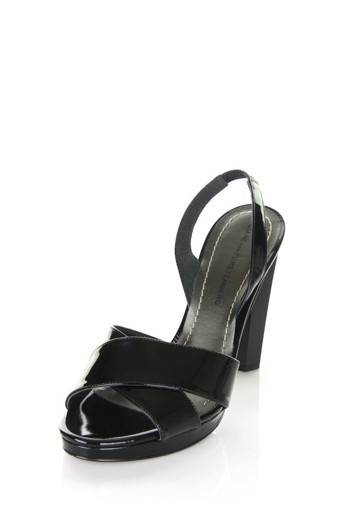 Diane von Furstenberg patent slingback sandals New Size 8.5 - OWN THE COUTURE
