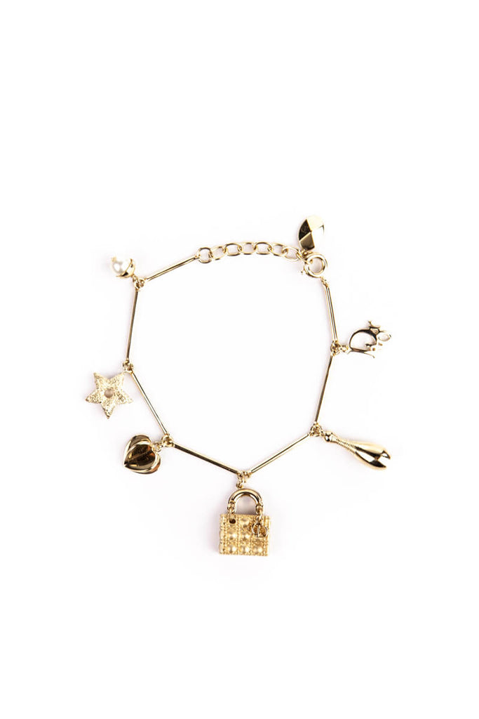 ca615b35fb2 ... Christian Dior Lady Dior Charm Bracelet - OWN THE COUTURE ...