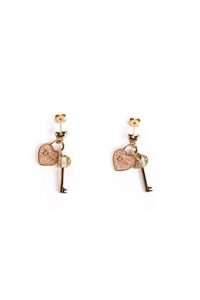 761c9d7f630c ... Christian Dior Heart And Key Pendant Earrings - OWN THE COUTURE ...