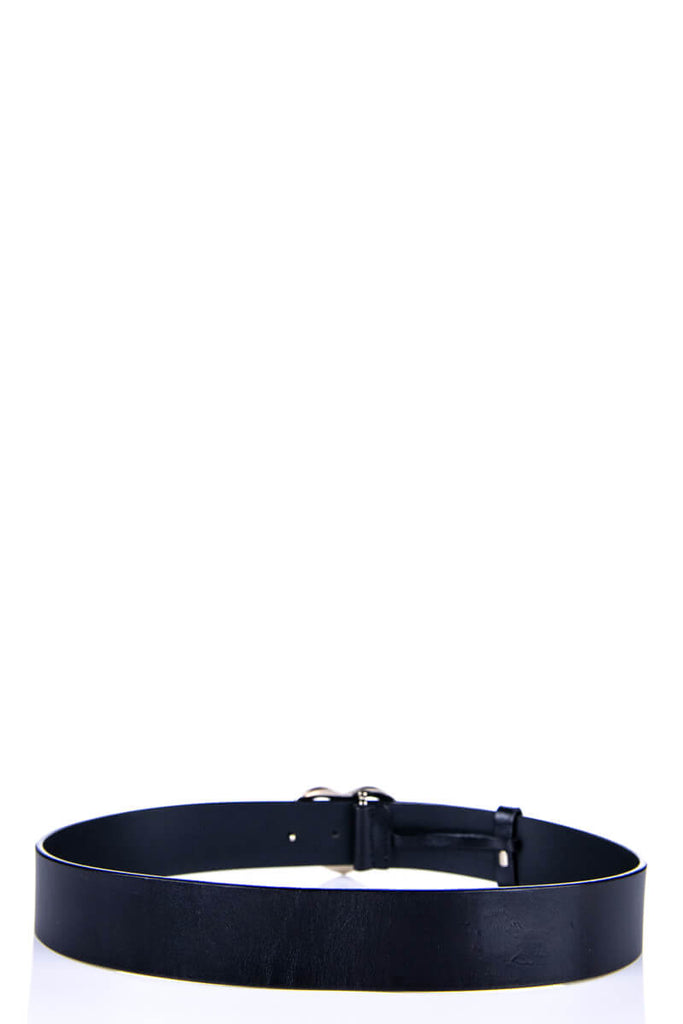 Gucci Black Leather GG Heart Buckle Belt Size L - OWN THE COUTURE