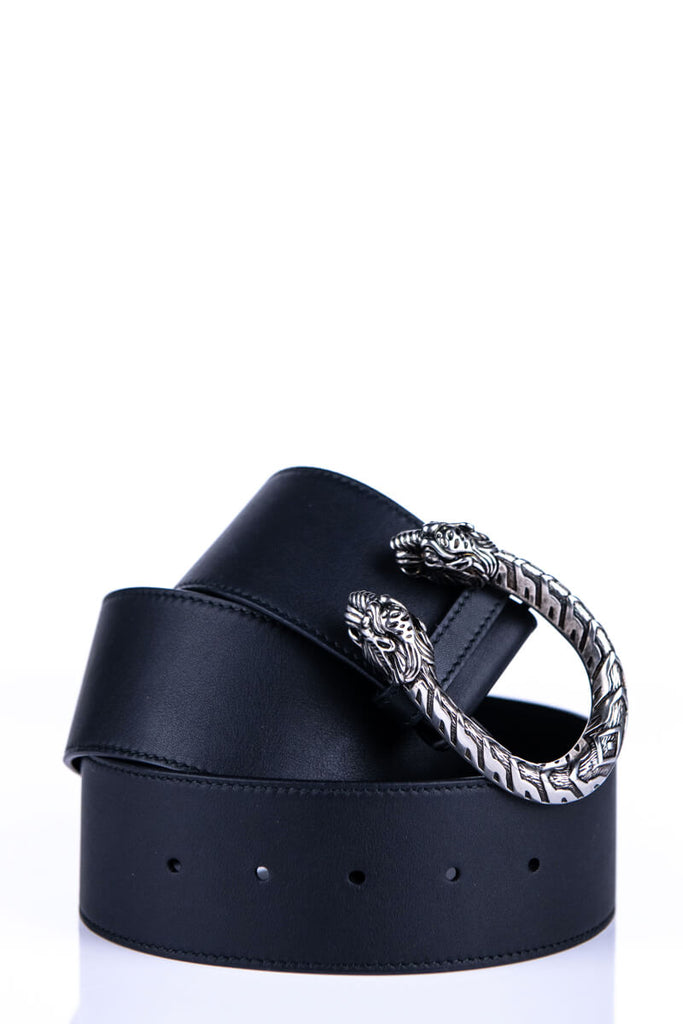 bc6e94c4cbb0 ... Gucci Black Leather Dionysus Buckle Belt - S - OWN THE COUTURE ...