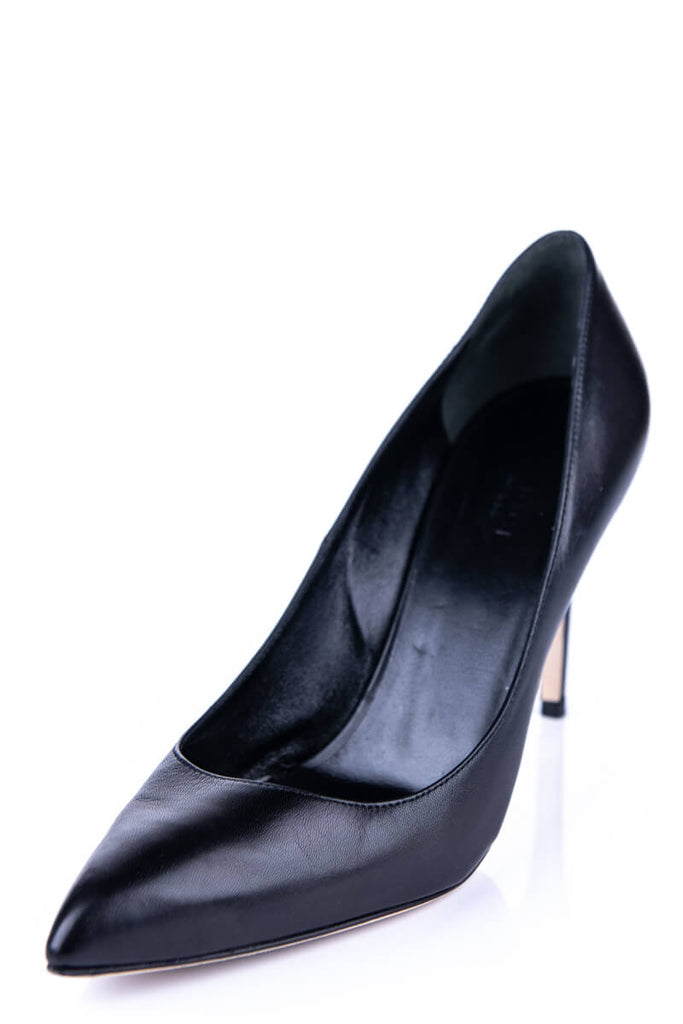 Gucci Black Leather Pointed Toe Pumps Size 8.5 | EU 38.5 - OWN THE COUTURE