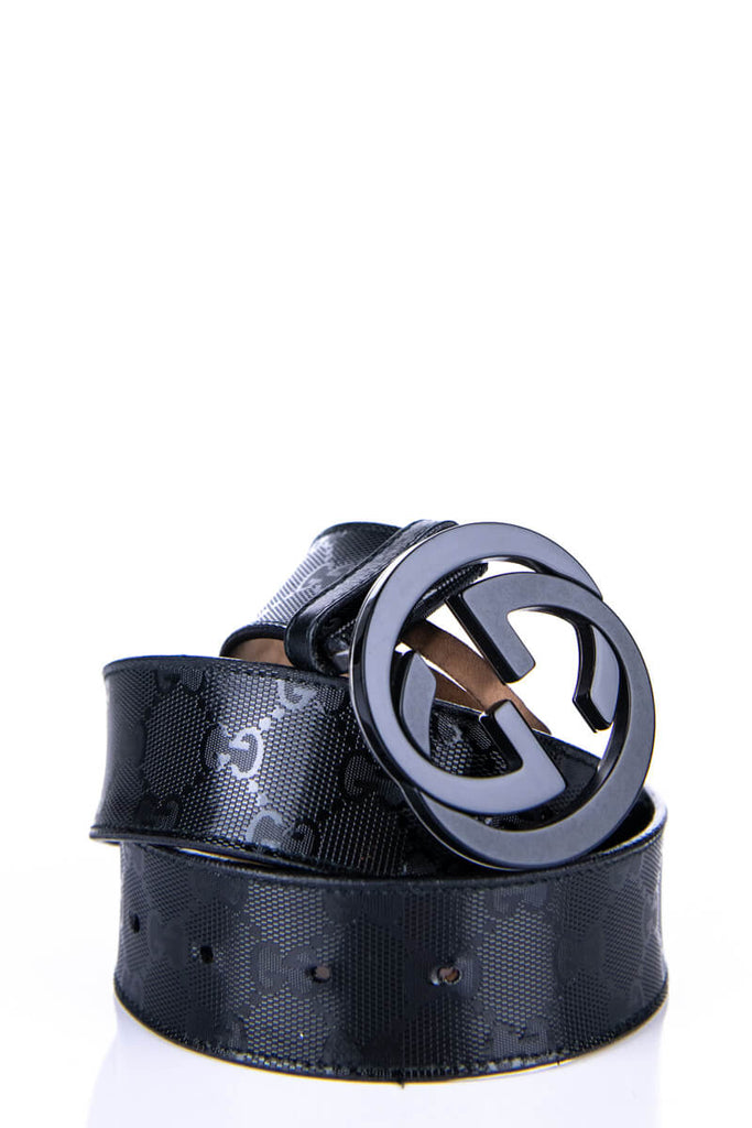 40465868d Gucci Black Monogram GG Buckle Belt - Sell Your Preloved Gucci at OTC