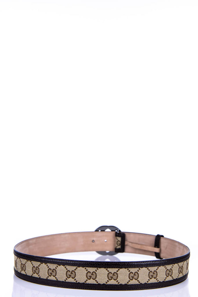 8f970b82b358 Gucci Brown Monogram Canvas GG Belt - M | OWN THE COUTURE | Canada's ...