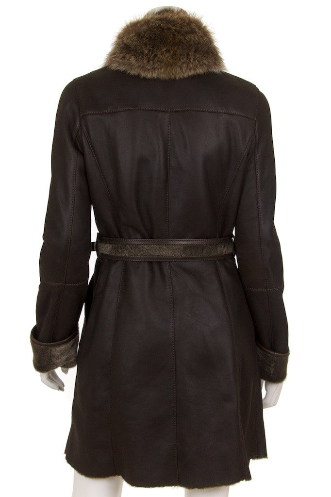 Gucci leather and shearling belted coat Size S | IT 42 - OWN THE COUTURE  - 3