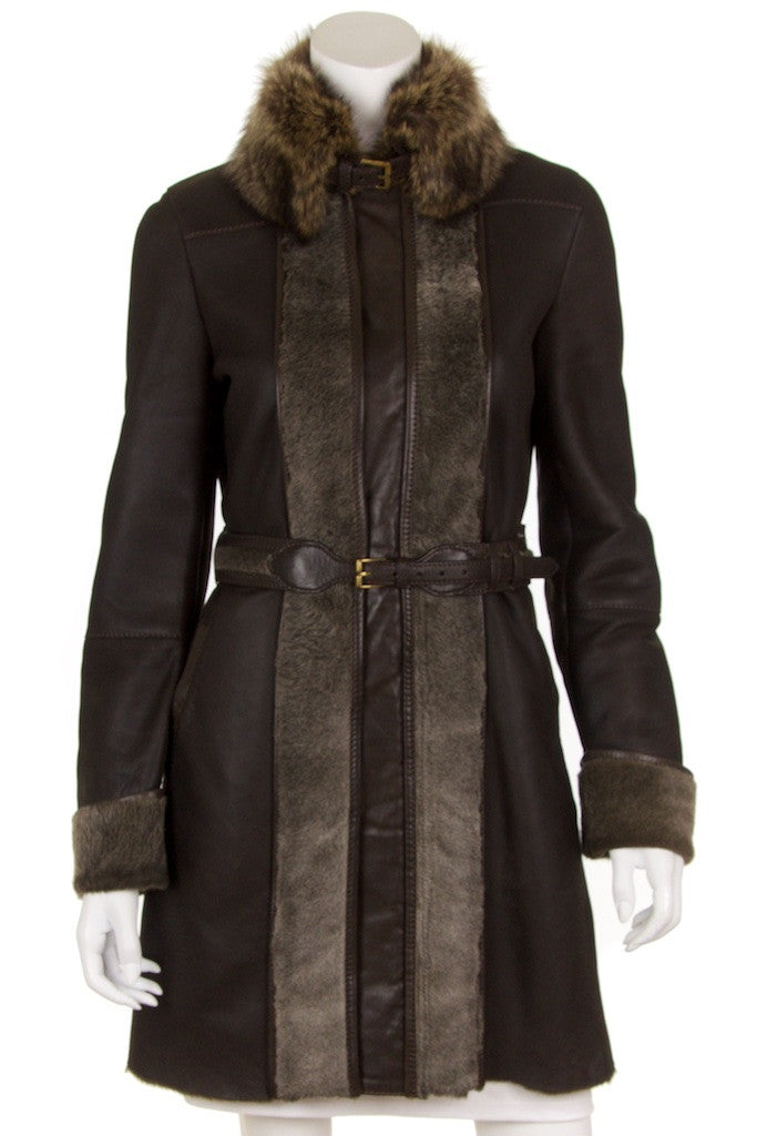 Gucci leather and shearling belted coat Size S | IT 42 - OWN THE COUTURE  - 1