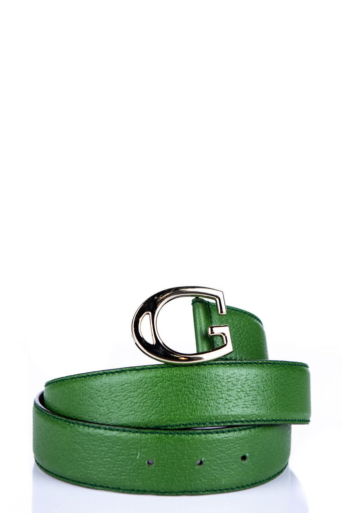 c6bd0b21b4fb Gucci Green Leather G Buckle Belt | OWN THE COUTURE | Canada's ...