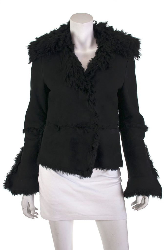 Gucci suede and shearling fur-lined jacket Size M - OWN THE COUTURE