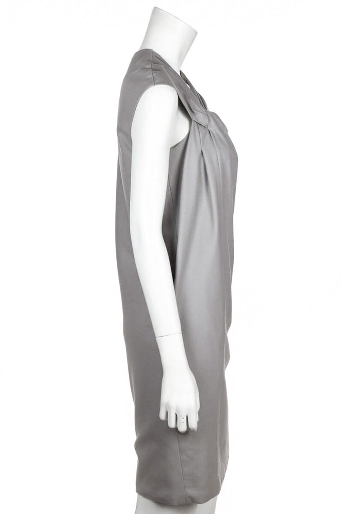 Gucci Taupe Wool Knotted Dress Size S | IT 42 - OWN THE COUTURE