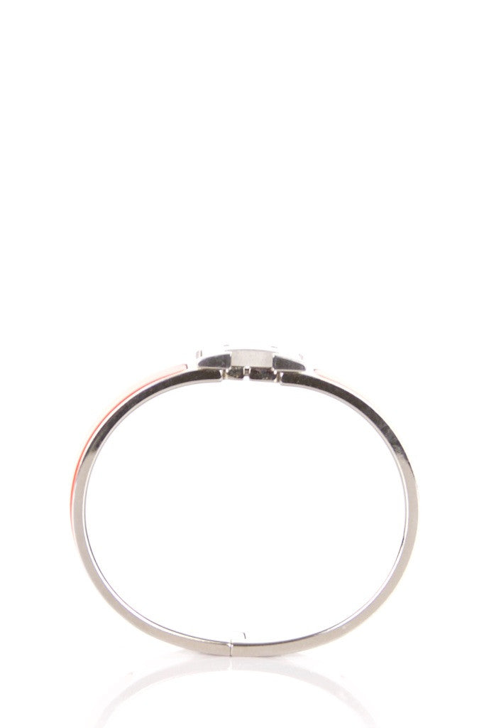 Hermès narrow Clic Clac enamel bracelet - OWN THE COUTURE