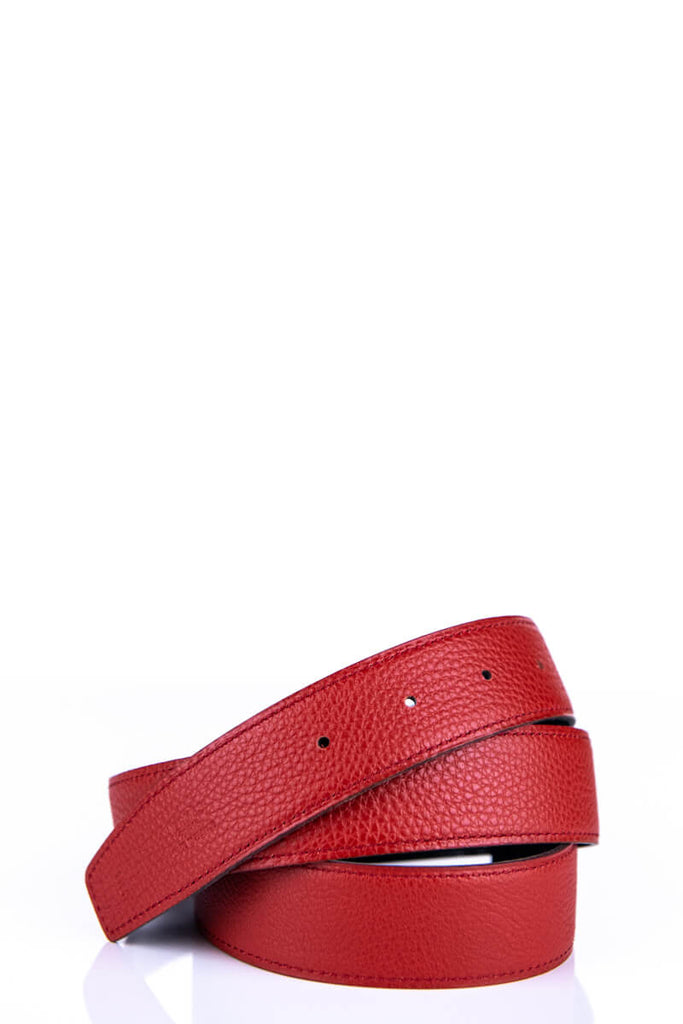 8ad6414c2116 ... Hermès Red Clémence Reversible Belt Strap Size - M - OWN THE COUTURE ...