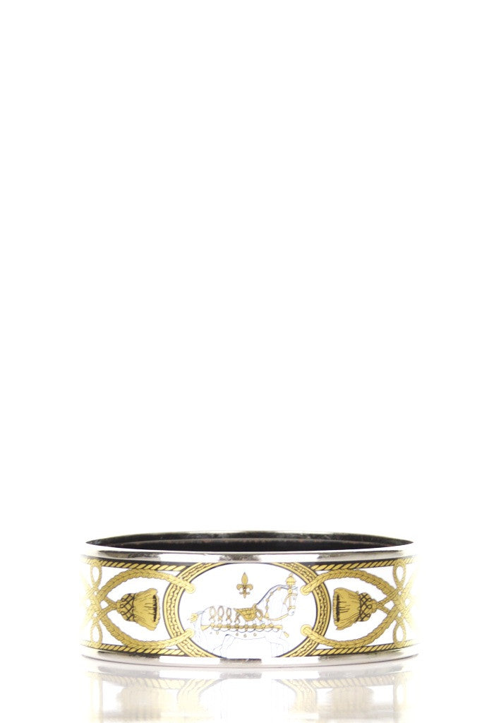 Hermès wide printed enamel bracelet - OWN THE COUTURE