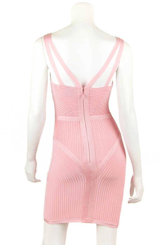 Herve Leger ribbed body con dress Size XXS - OWN THE COUTURE