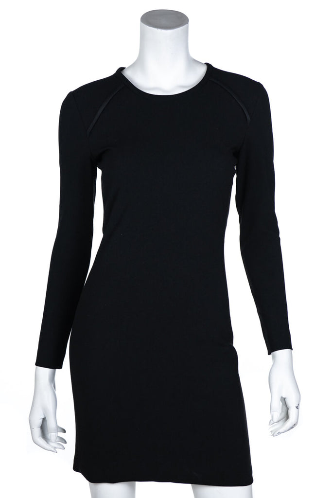 Iro Black Crepe Cheryne Long Sleeve Dress Size XS | FR 36 - OWN THE COUTURE