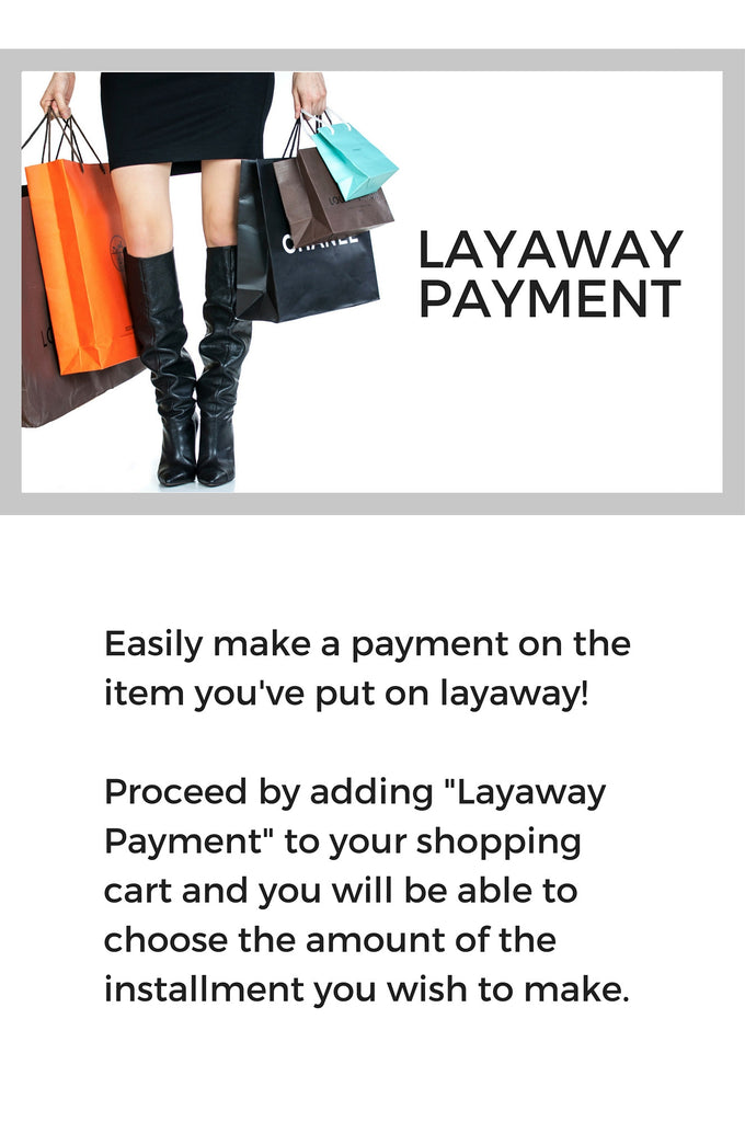 Layaway payment - OWN THE COUTURE