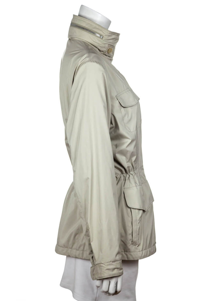 Loro Piana Beige Cashmere Lined Lady Traveler Jacket Size XL | IT 48 - OWN THE COUTURE