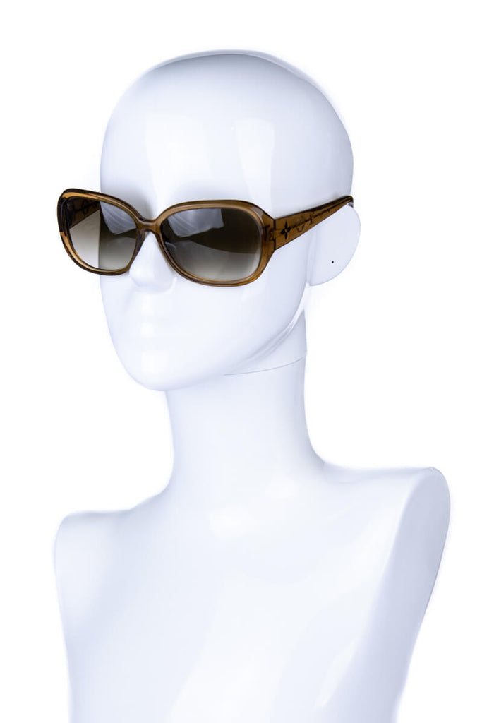 Louis Vuitton Light Brown Glitter Acetate Sunglasses - OWN THE COUTURE