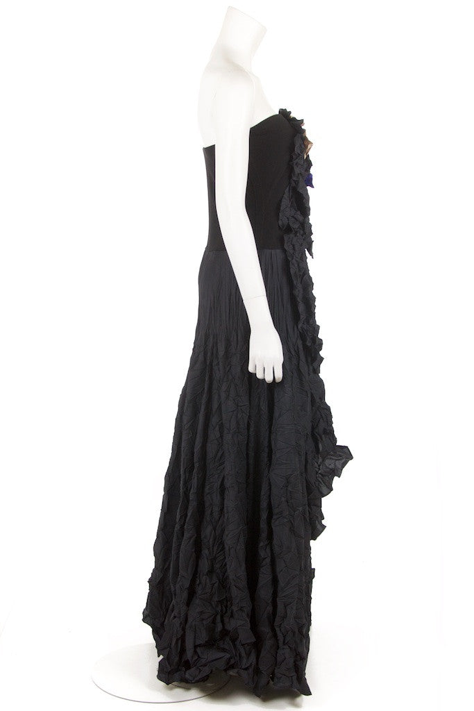 Marie Saint Pierre crinkled strapless gown Size M | 3 - OWN THE COUTURE