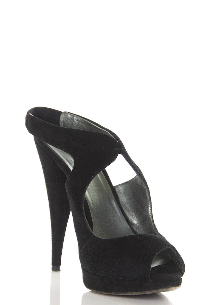 Miu Miu suede platform peep toe pumps Size 8.5 - OWN THE COUTURE  - 3