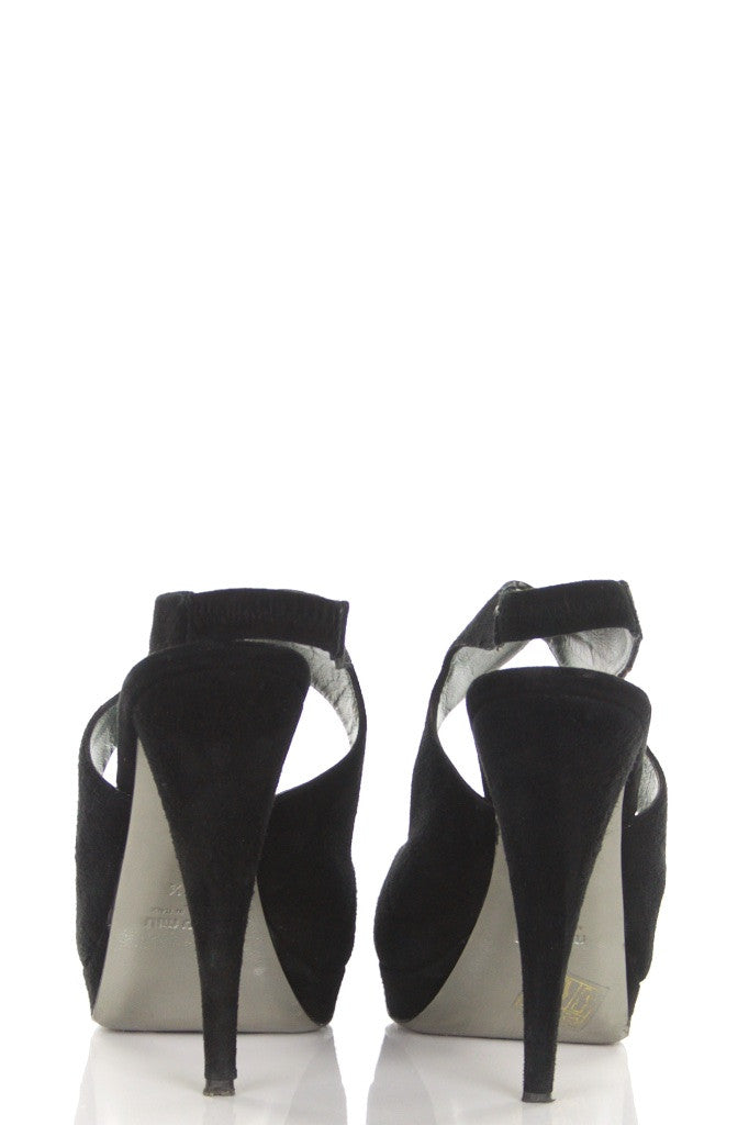 Miu Miu suede platform peep toe pumps Size 8.5 - OWN THE COUTURE