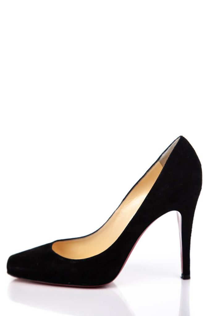 Christian Louboutin Black Suede Square Toe Pumps Size 9 | IT 39 [20% OFF] - OWN THE COUTURE