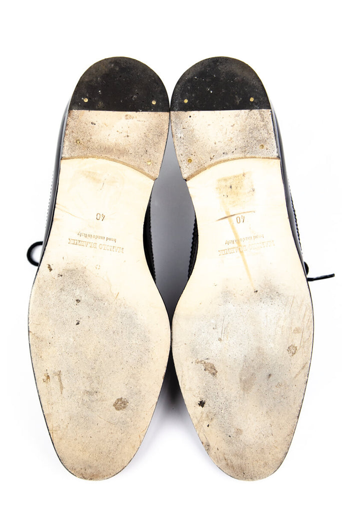 Manolo Blahnik Black And White Leather Brogues Size 10 | IT 40 [20% OFF] - OWN THE COUTURE