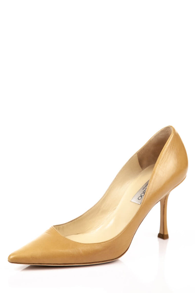 b906bba0929 Jimmy Choo Beige Leather Pumps Size 9 | EU 39