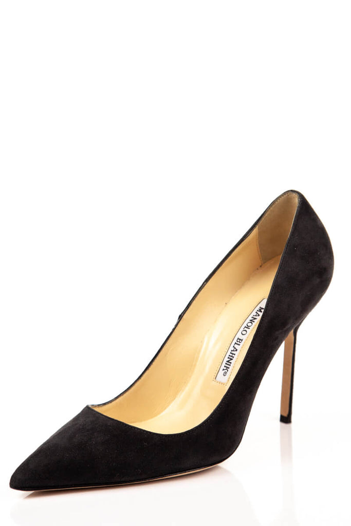 4f27091405985 ... Manolo Blahnik Dark Grey Suede Pumps New Size 8.5 | EU 38.5 - OWN THE  COUTURE ...
