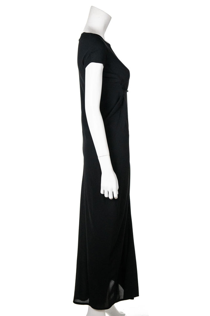 Jil Sander Black Chiffon Maxi Dress Size XXS | FR 34 [20% OFF] - OWN THE COUTURE