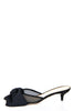 Charlotte Olympia black satin and mesh bow kitten heel mules Size 8 | EU 38 - OWN THE COUTURE