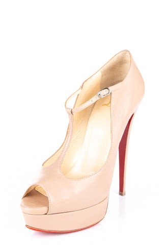 2f4451aab7d Chrisitian Louboutin nude T- strap